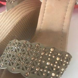 Brand new never worn wedge sparkle heels size 6